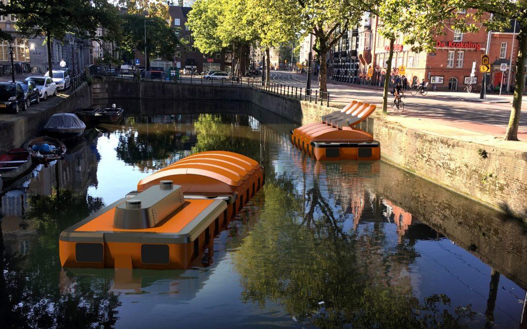Haalt Amsterdam straks vuilnis op met zelfvarende e-bootjes?