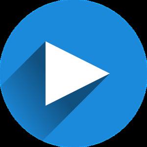 afspeel button blauw