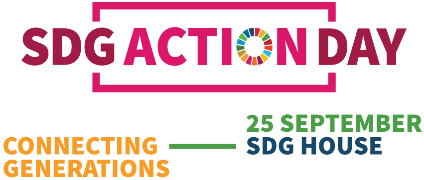 Logo SDG Action Day 2019 - Connecting Generations - 25 September, SDG House Amsterdam