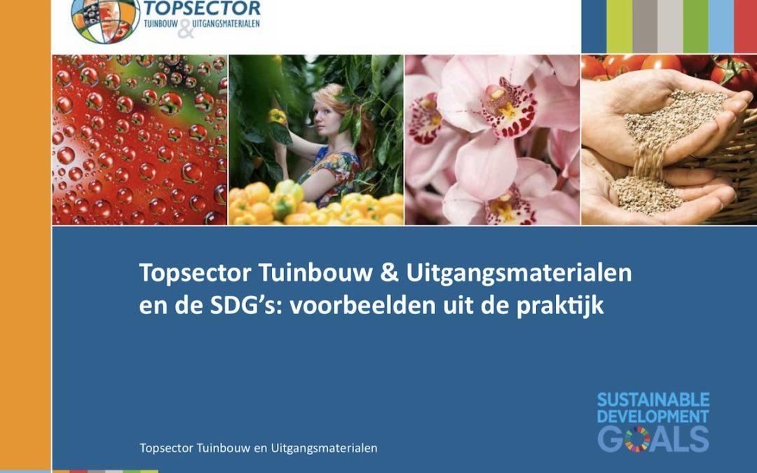Publicatie: Tuinbouwsector slaat de weg van de SDGs in