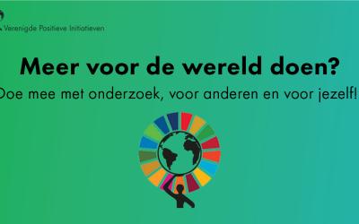 Onderzoek: Positief in actie voor de SDG's