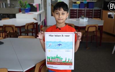 Kinderen 'tekenen' voor een duurzaam regeerakkoord
